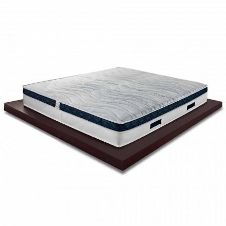Čtvercová a středně vysoká matrace 22 cm v luxusní paměti vyrobené v Itálii - Duran