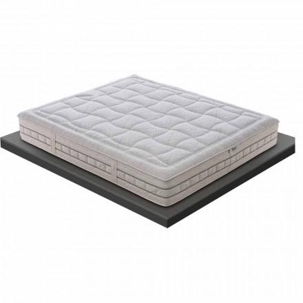 Jedna a půl matrace v luxusní paměti H 25 cm Vyrobeno v Itálii - Platina