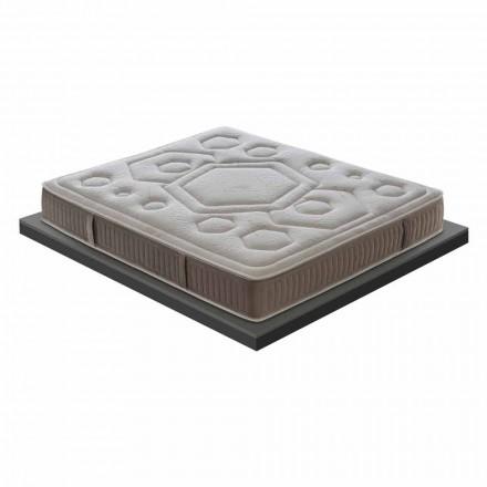 Jeden a půl matrace v luxusní paměti H 25 cm Vyrobeno v Itálii - oranžové