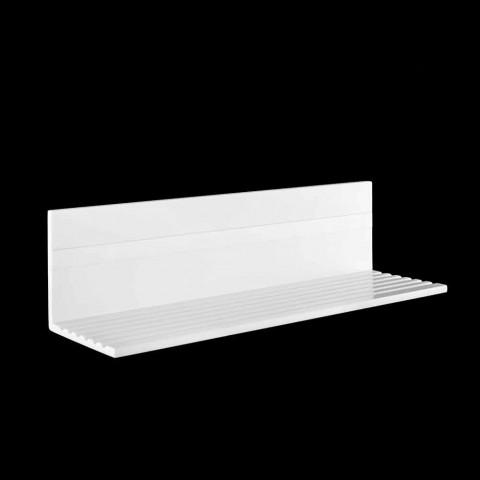 Nástěnná police v bílém Corianu nebo s černou vložkou 350 nebo 600 cm - Elono