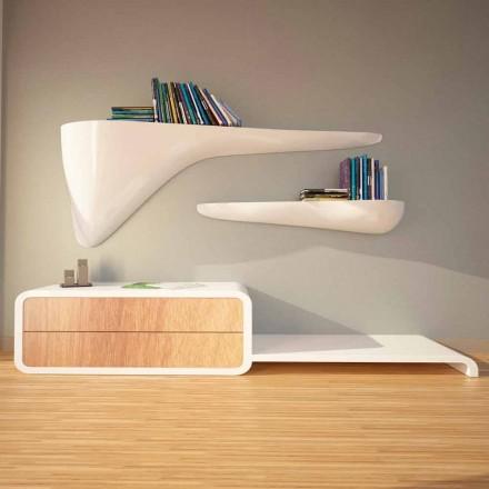 Moderní designový regál vyrobený v Itálii, Sizzano