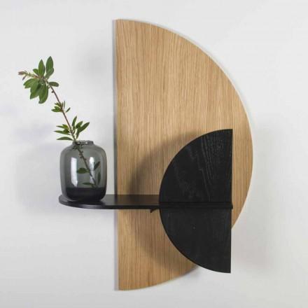 Modulární police v moderním designu v dubové a černě malované překližce - Arábie