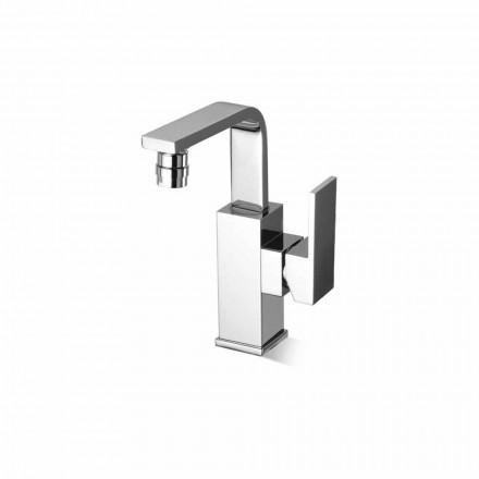 Designový koupelnový bidetový mixér z mosazi bez odtoku vyrobený v Itálii - Panela