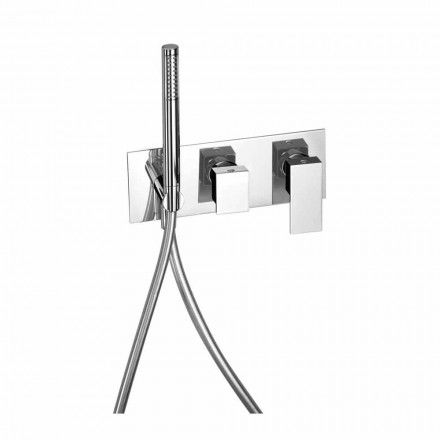 Vestavěná sprchová baterie s mosazným přepínačem vyrobená v Itálii - Panela