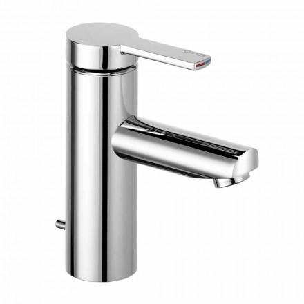 Páková koupelnová umyvadlová baterie v mosazi, ušlechtilý design - Zanio