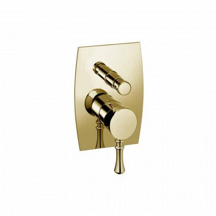 Designová mosazná sprchová nebo vanová baterie vyrobená v Itálii - Neno