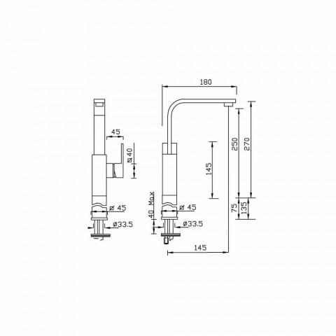 Baterie pro umyvadlo s vysokým prodloužením 7 cm Made in Italy - Panela
