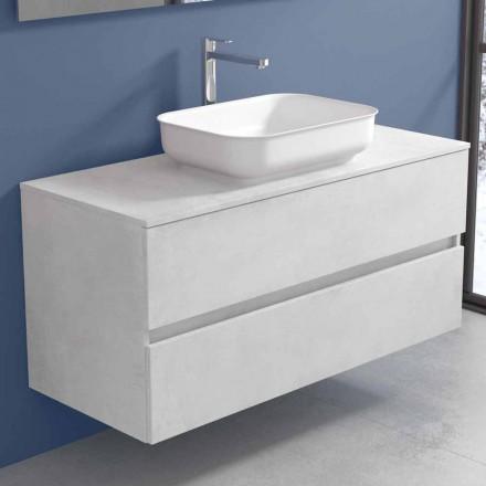 Závěsný koupelnový nábytek s designovým umyvadlem ve 4 provedeních - Paoletto