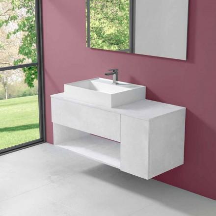 Závěsná koupelnová skříňka s umyvadlem v moderním stylu - Pistillo