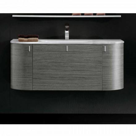 Závěsná koupelnová skříňka s 1plastovým nábytkem + umyvadlem 2ante v dubu Happy