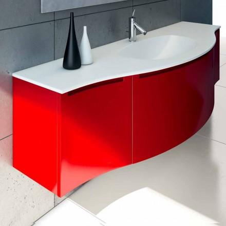 Závěsná koupelnová skříňka s integrovaným umyvadlem, 1koston + 2ante Gioia