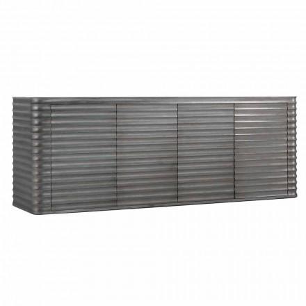 Mobile se 4 dřevěnými dveřmi tvarované konstrukce, L230xP49 cm, Dana