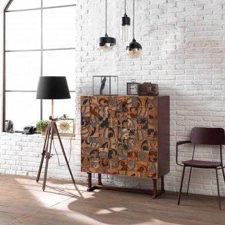 Designová skříň se dvěma dveřmi v mango dřevě, Cellara