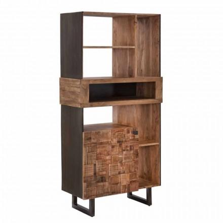 Mobilní knihovna návrhů v železe a akátu Wood - Desdemona