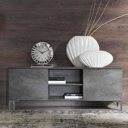Moderní televizní skříň melaminové dřevo Dveře vyrobené v Itálii - Clemente