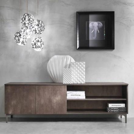 Moderní televizní skříňka Dveře z melaminového dřeva vyrobené v Itálii - Clemente