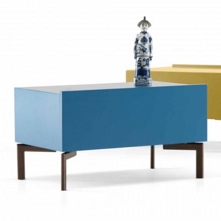 Designový noční stolek v ocelových nohách MDF My Home Sally vyrobený v Itálii