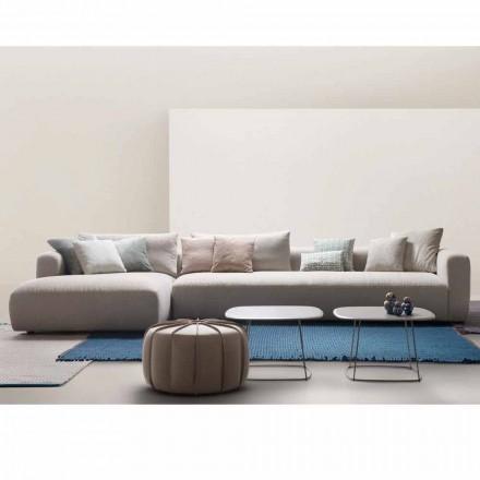 Sekční designová pohovka v My Home Softly vyrobená v tkanině Itálie