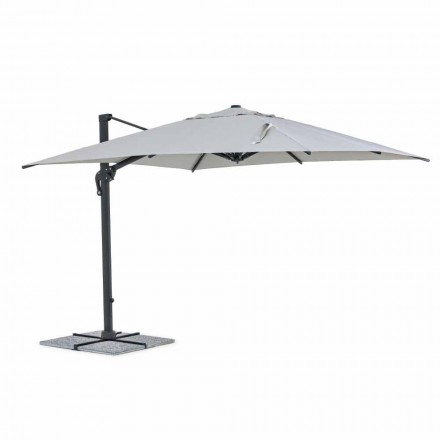 Venkovní deštník, 3x3 se světle šedým hadříkem a antracitovou strukturou - Dalton
