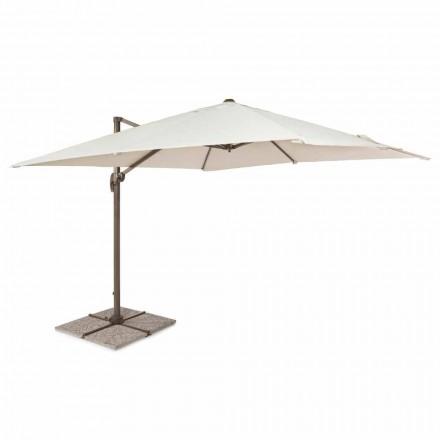 Venkovní deštník, 3x3 s polyesterovým hadříkem a hliníkovou tyčí - Texas