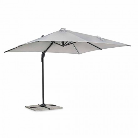 Venkovní deštník 3x3 v šedém polyesteru a hliníku antracitové barvy - Coby