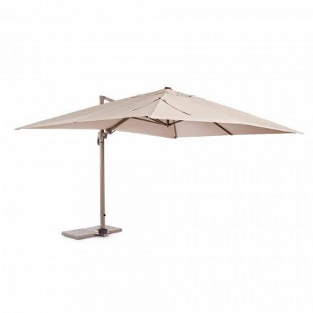 Venkovní deštník, 3x4, s pískově zbarveným polyesterovým hadříkem - plameňák