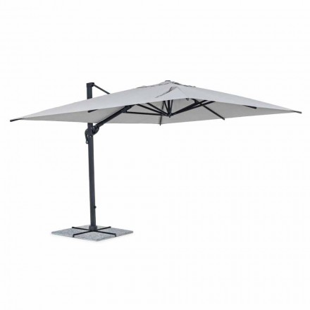 Zahradní deštník, 3x4 s polyesterovým hadříkem ve světle šedé barvě - Dalton