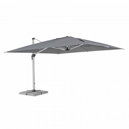 Zahradní deštník 4x4 s tmavě šedým hadříkem a eloxovanou strukturou - Daniel