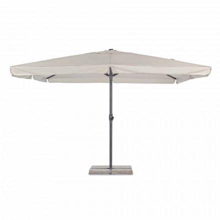 Zahradní deštník 4x4 s polyesterovým hadříkem a ocelovou základnou - Nastio