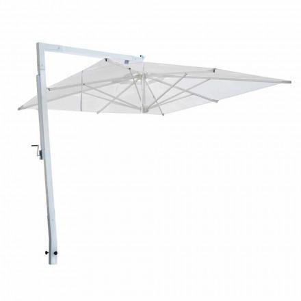 Zahradní deštník z bílého hliníku a látky vyrobené v Itálii - Mervin