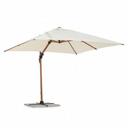 Venkovní deštník, 3x3 z hliníku s béžovým polyesterovým potahem - Leano