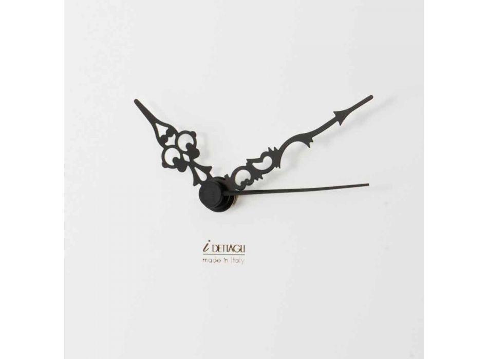 Bílé nástěnné hodiny s dřevěnými dekoracemi pro zvířata Moderní design - napětí