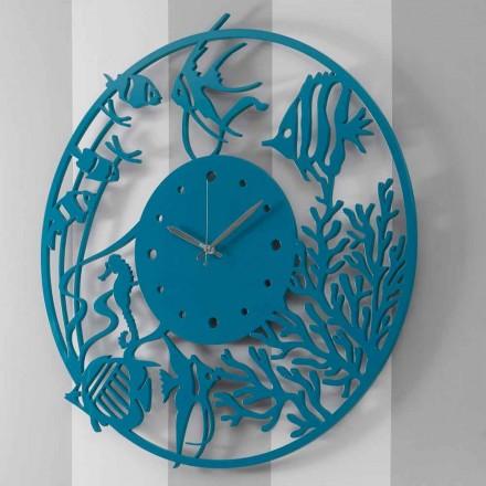 Velké moderní barevné kulaté dřevěné nástěnné hodiny - Infondoalmar