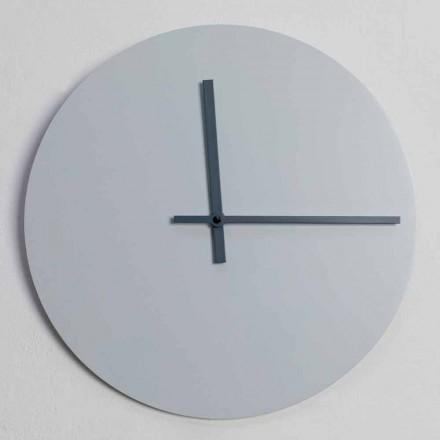 Kulaté nástěnné hodiny moderního designu šedé a modré Vyrobeno v Itálii - Umbriel