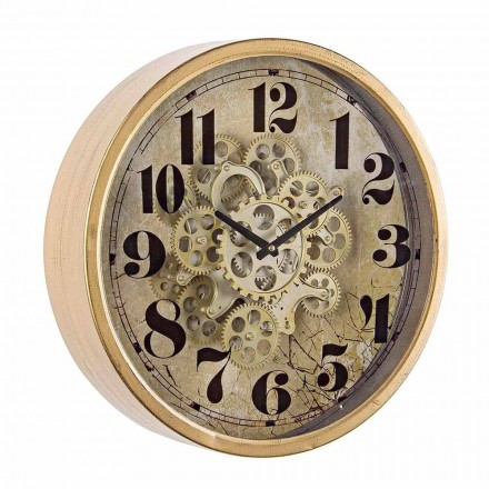 Kulaté nástěnné hodiny o průměru 46,5 cm v oceli a skle Homemotion - Rando