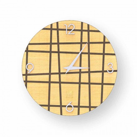 Barevné dřevěné nástěnné hodiny Isso, design, vyrobené v Itálii
