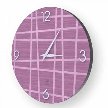 Nástěnné hodiny vyrobené z dřeva Isso vyrobené v Itálii
