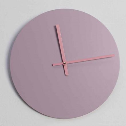 Kulaté dřevěné nástěnné hodiny vyrobené v Itálii - Imalia