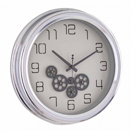Nástěnné hodiny v retro designu s ocelovou konstrukcí Homemotion - Gimbo