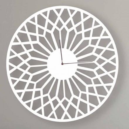 Velké a moderní designové nástěnné hodiny v kulatém barevném dřevě - Dandalo