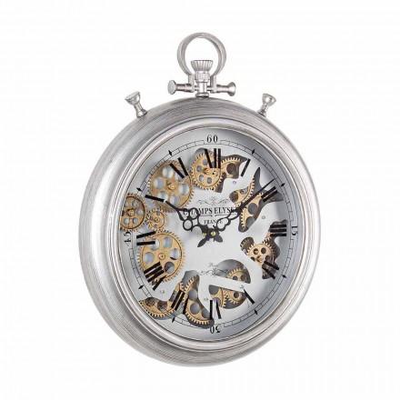 Nástěnné hodiny v provedení z oceli a skla Vintage Homemotion - Gringo