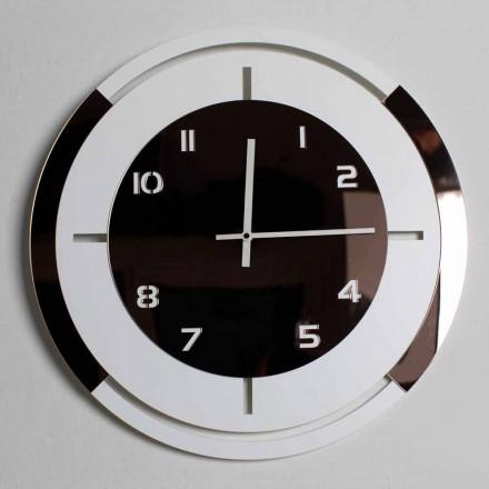Nástěnné hodiny z bílého dřeva a bronzu Ozdoby moderního designu - Mavia