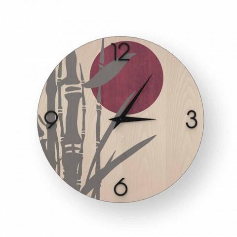 Atina nástěnné hodiny v zdobené dřevěné konstrukci vyrobené v Itálii