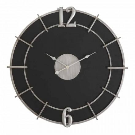 Kulaté nástěnné hodiny moderního designu v Iron and MDF - Hope