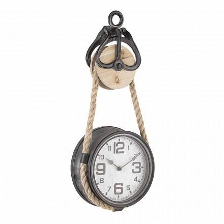 Nástěnné hodiny v retro designu z oceli a skla Homemotion - Edvige