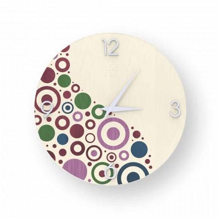 Curno nástěnné hodiny v moderním designu vyrobené v Itálii