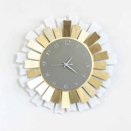 Moderní kruhové dvoubarevné železné nástěnné hodiny vyrobené v Itálii - Lussuria