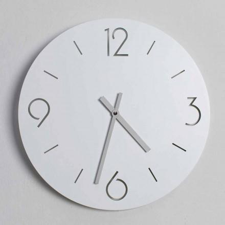 Klasický design bílé nástěnné hodiny z kulatého dřeva - Septimius
