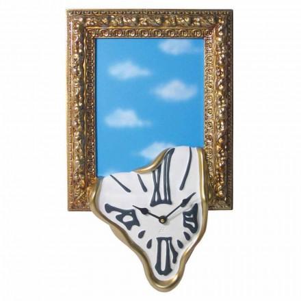 Nástěnné hodiny s fotorámečkem v pryskyřici vyrobené v Itálii - Bigno