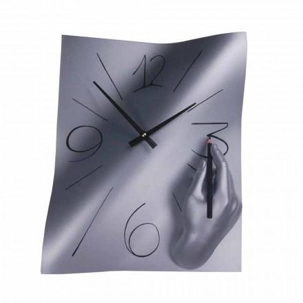 Ručně zdobené nástěnné hodiny z pryskyřice vyrobené v Itálii - Libyi